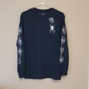 Marshmallow black spider long sleeve t size s